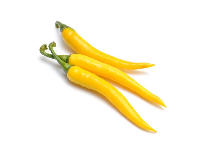 Thin yellow hot pepper