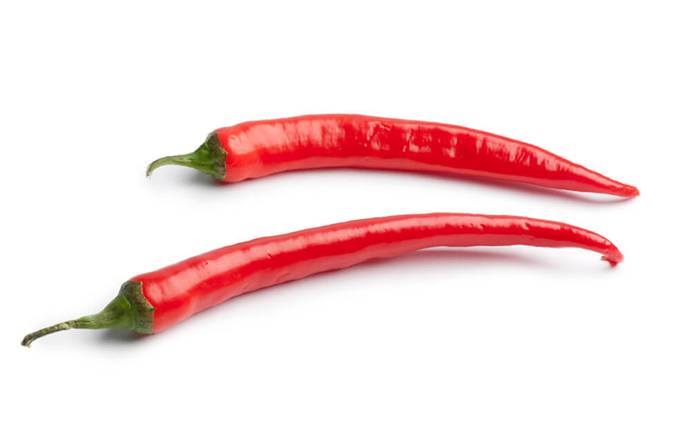 Thin red hot pepper