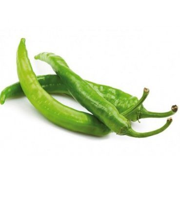 Thin green hot pepper