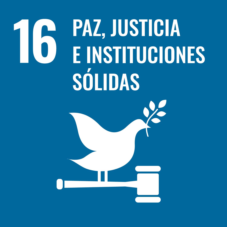 Promover sociedades pacíficas e inclusivas, para facilitar el acceso a la justicia para todas las personas y crear instituciones eficaces, responsables e inclusivas a todos los niveles