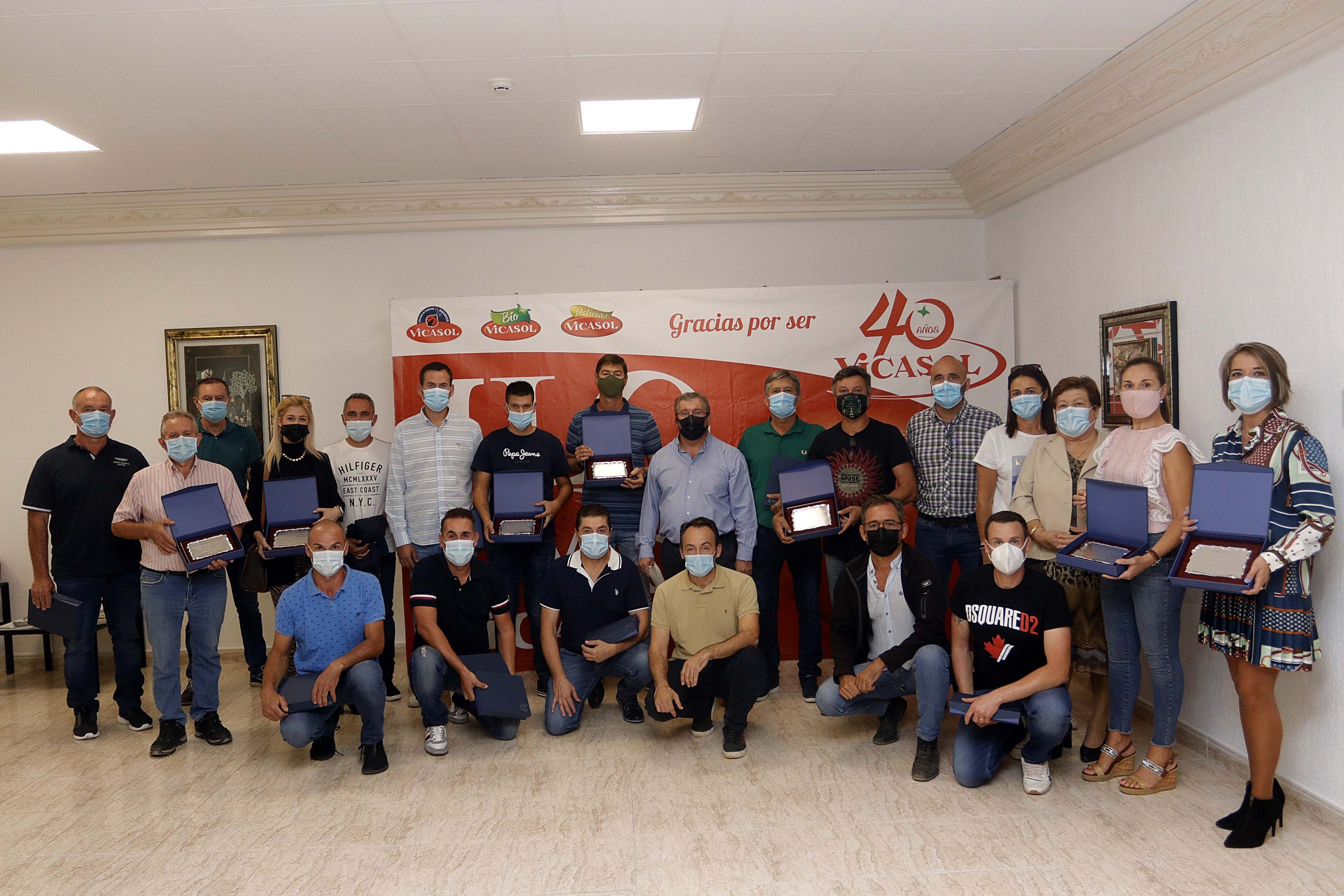 Vicasol entrega los Premios a la Calidad a 30 agricultores de la cooperativa en la semana de Fruit Attraction